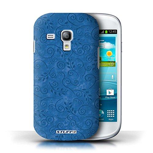 Kobalt® Imprimé Etui / Coque pour Samsung Galaxy S3 Mini / Rose conception / Série Motif Feuille Remous Bleu