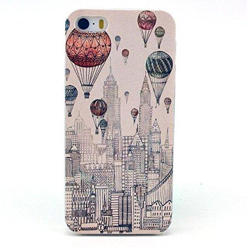PowerQ [ per Iphone 5S 5G 5 IPhone5 IPhone5S - 14 ] la stampa del modello di plastica caso del modello di serie del sacchetto stampa cassa del telefono mobile di plastica colorata di disegno della pel 18