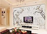 H&M Selbstklebende Tapete PVC moderne einfache 3D Stereo Wandmalerei wasserdichte Tapete Dekoration Schlafzimmer TV Wand Wohnzimmer Tapete - Tulpe