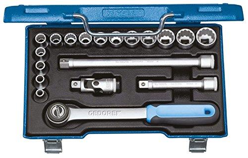 Gedore D JMU-3 Steckschlüssel-Satz 1/2″ 19-TLG UD 8-24 mm