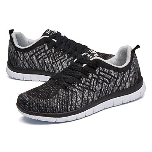 Men's Mesh Ultra Light Wear Resisting Outdoor Running Shoes Black