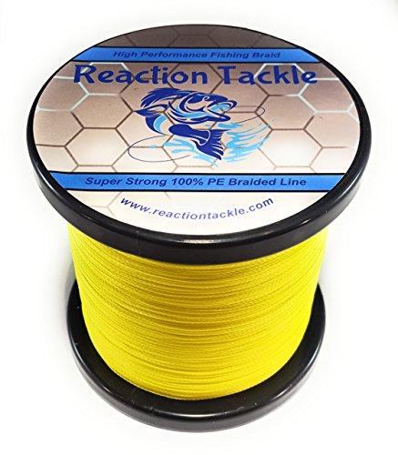 Reaction Tackle Geflochtene Angelschnur/Fluoreszierendes gelb / 20LB (1000yds)