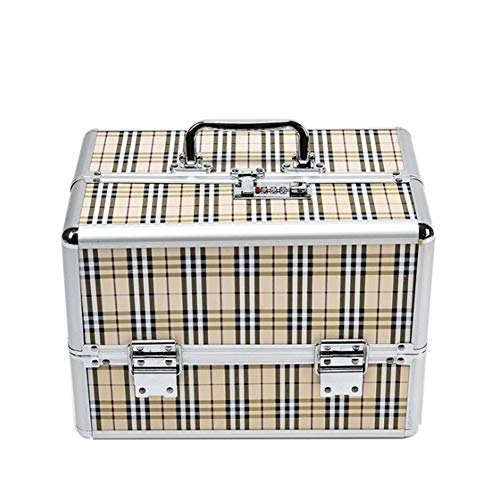 Leopard-Print Portable Multi-Layer Large-Capacity Cosmetic Case Nail Box,3