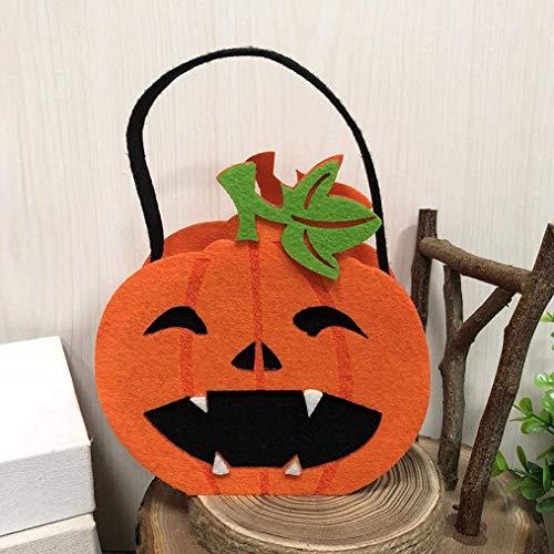 Vektenxi Premium-Qualität Kinder Süßes oder Saures Tragetaschen Halloween Süßigkeiten/Bonbons Dekoration Partyzubehör I (Süßigkeiten Halloween Sicher,)