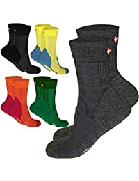 DANISH ENDURANCE Merino Wool Light 3/4 Crew Socks for Hiking, Trekking, Performance & Outdoor, Men & Women (3 or 1 Pairs)