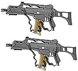 Nerd Clear Softair-Gewehr 2 Stück Spielzeug-Waffen M41 Sturmgewehr schwarz max - 0,5 Joule im Set mit 6mm BB Airsoft Munition - Nerd Clear
