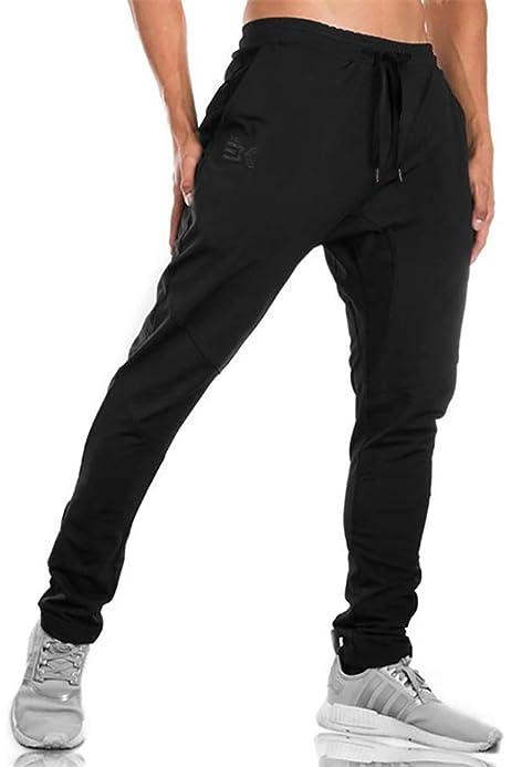 Mens Slim Fit Trainingsanzug Bottoms Skinny Jogging Jogger Sweat Pants Hosen