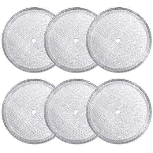 Paquete de 6 filtros de repuesto para prensa francesa, filtros de malla de acero inoxidable reutilizables...