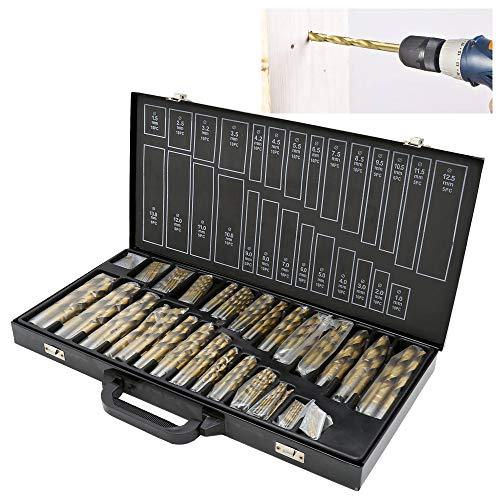 230-tlg. Bohrer Set 1-13mm Spiralbohrer Satz TiN Spiral-Bohrer DIN338 Stahlbohrer HSS beschichtet Holzbohrer