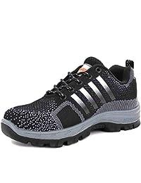 CHNHIRA Chaussures de Travail Homme Embout Acier Protection Antidérapante Anti-Perforation Chaussures de Sécurité Unisexes