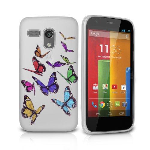 Price comparison product image FoneM8® - Butterfly Designer Gel Case For Motorola Moto G