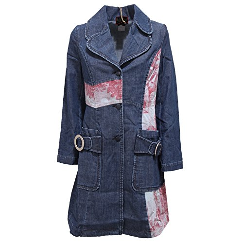 2572R cappotto donna CUSTO BARCELONA FIRST RED denim jacket woman [3-S]