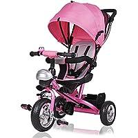 Deuba ® Triciclo infantil para niños | Bebé | Triciclo evolutivo | muchos extras | Accesorios incluidos | Ruedas de PU | Carga máxima 30 kg | Hasta los 3 años | Desde los 10 meses | Cambio de sillín |