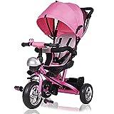 Triciclo Infantil Deuba para Niñas, Evolutivo y de Color Rosa. Perfecto Para Bebés De 10 Meses Hasta 3 Años