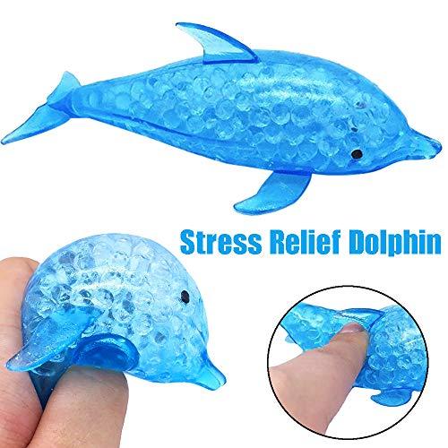 JIUZHOU Spielzeug Shop Schwammiger Delfin Perlen Stress Ball Spielzeug Squishies Spielzeug Stress Relief Spielzeug