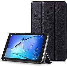 HUAWEI MediaPad T3 7 Funda - Carcasa Ultra Delgado y Ligero con Cubierta de Soporte para Huawei Mediapad T3 7 - Tablet de 7 Pulgadas IPS, Negro