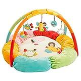 Fehn 074611 3-D-Activity-Nest Safari – Besonders weicher Spielbogen mit 5 abnehmbaren Spielzeugen für Babys Spiel & Spaß von Geburt an – Maße: Ø85cm