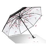 Regenschirm mini leicht, Visier-Sonnenschutz-Regenschirm Im Freien UV-faltender Regenschirm
