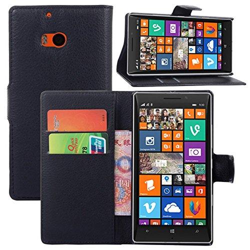 Ycloud custodia cover per nokia microsoft lumia 930 portafoglio tasca book folding custodia in pelle con supporto di stand cover case custodia pelle con stilo penna nero