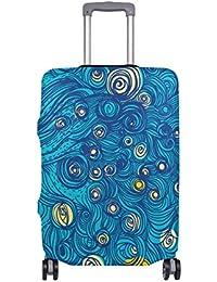 Preisvergleich für COOSUN Abstrakt Sky Print-Reise-Gepäck Schutzabdeckungen Waschbar Spandex Gepäck Koffer Cover - Passend für 18...