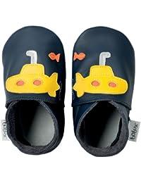 Bobux BBG 4162 - Zapatos de bebé, diseño de submarinos, color azul y amarillo