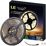 LE Lampux Bandes LED flexibles, 12V, Blanc chaud, de 300 unités 3528 SMD LED, non étanches, idéales pour bricolage, pack de 5 m