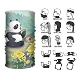 CrownLiny Headband Panda Drinking Outdoor Multifunctional Headwear 16 Ways to Wear Your Magic Headwear Scarf