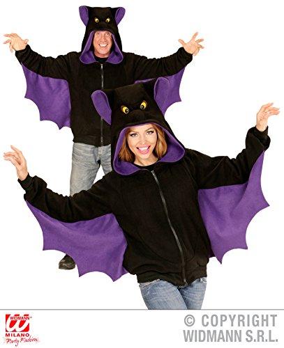 JACKE MIT KAPUZE - FLEDERMAUS - Größe L-XL, Halloween Hoodie Graf Dracula Vampire Blutsauger
