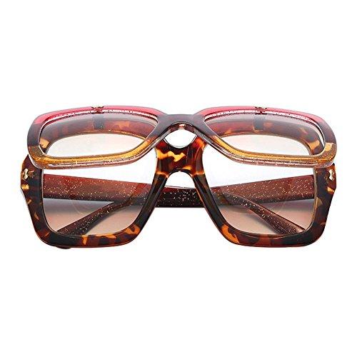 Haodasi Damen Übergroße quadratische Flip Up Sonnenbrille Designer Shade 100% UV-Schutz Nerdbrille