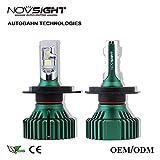 #5: NOVSIGHT H4 LED Headlight A384 N8 60W 16000lm (8000lm per bulb) 6500K (12V,30W, 2 Bulbs)