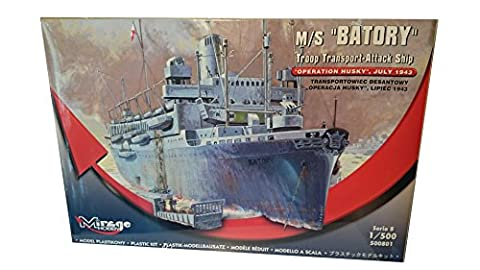 Mirage Hobby 500801–Model Kit M/S BATORY Troop Transporter Attack