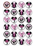 24x Disneys zum 3. Geburtstag Minnie Maus Essbar Cupcake Kuchen Topper