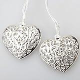 GLADLE Romantic 10LED Silver Metal Heart Fairy String Light Decoration Bild 5