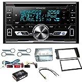 Kenwood DPX-7100DAB Digitalradio Bluetooth CD USB AUX MP3 Autoradio Einbauset für Audi A6 4B