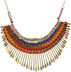Nnits Multicolor Non-Precious Metal Choker Necklace For Women