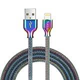 Fantany Lightning Ladekabel,[MFi-Zertifiziert] Metal flechtete Lightning Ladekabel USB Lightning Kabel Kompatibel für iPhone X,XS Max,8 Plus,7 Plus,6s Plus,iPad Mini, iPad Pro,1m Länge,1 Stück
