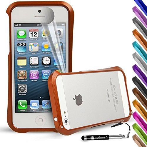 MadCase iPhone 5s/5gebürstet Metall Stoßfest 2Teil Cover Bumper Metal Cleave Design - Orange