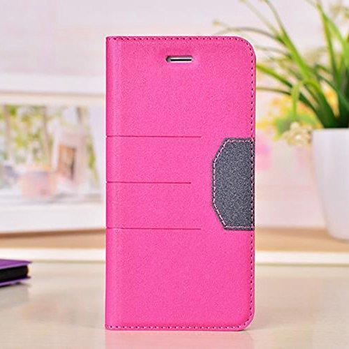 Gemischte Farben Glänzende Sparkles Pattern Magnetische Verschluss PU Ledertasche Cover mit Kickstand & Card Slot für iPhone 6 Plus & 6s Plus ( Color : Black ) Rose