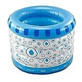 Sweet Bathtub Baby-aufblasbare Pool-Badewannen-Ausgangsisolierungs-runde Innenwanne für 1-3 Jahre Baby-Badewanne Baby-Schwimmen-Eimer 100 * 75CM (Farbe : Blau)