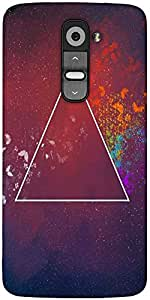 Snoogg 3Rd Dimension Designer Protective Back Case Cover For LG G2