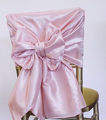 Stuhlhusse aus Taft 65cm x 250cm Schärpen Event Decor Hochzeit Stühle Ice Pink (Klassische Stuhlhussen)