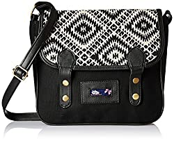 Kanvas Katha Womens Handbag (Black) (KKBSTAJ004)