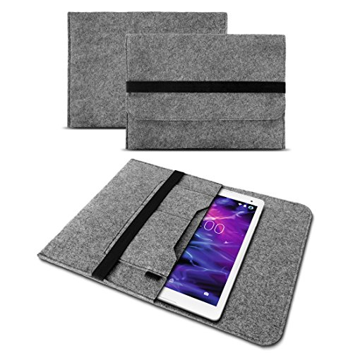 Schutzhülle Sleeve Tasche Cover Laptop Hülle für Medion Lifetab P10610 P10603 E10414 E10604 E10412 P10602 X10605 X10607 X10311 P9702 X10302 P10400 P10506 P10505 Filz Case Tablet, Farben:Helles Grau