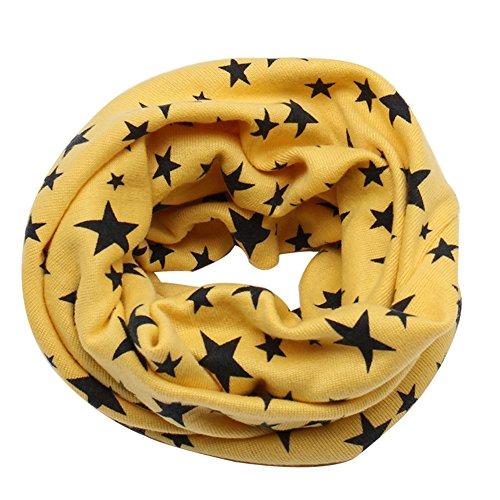 MEIWO Otoño Invierno Estrellas Patrón Niños Niñas Collar Del Bebé bufanda  de Algodón Cuello Redondo Bufandas 313f8652e03