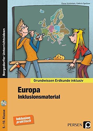 Europa - Inklusionsmaterial Erdkunde: 5. bis 10. Klasse (Grundwissen inklusiv)