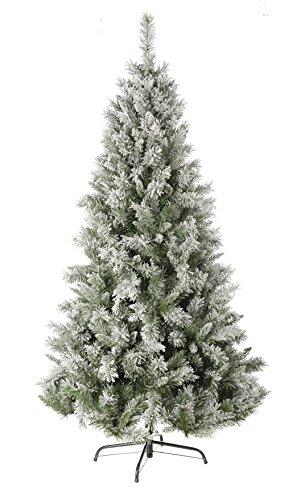 Festive - Albero di Natale con fiocchi di neve, 1,8 m, colore: verde
