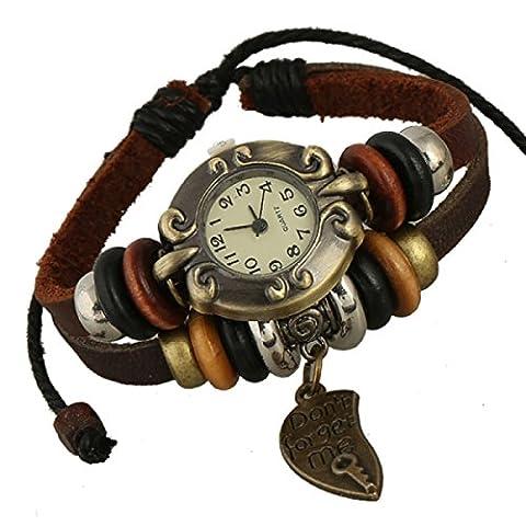 LZHM Neue Art Und Weise Multi Strands Justierbare Armbänder Für Unisex Stammes- Geflochtenen Seil Stulpe-Armband Wulstigen Schlüsselanhänger Uhr