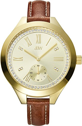 JBW Luxury Women's Aria J6309B Diamond Wrist Watch with Leather Bracelet