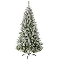 Festive Flocked Snow Princess Pine Christmas Tree 1.80 m Green