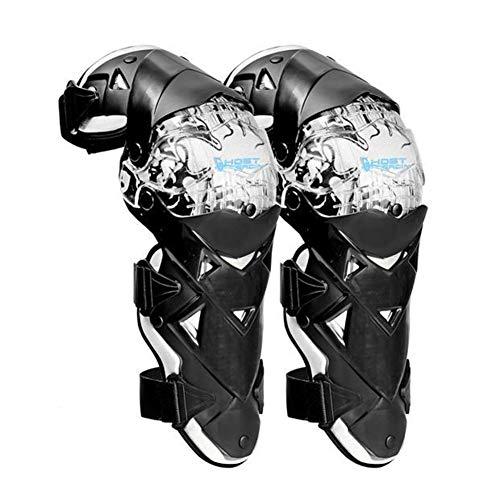 SAHWIN® Knie Ellenbogen Knieprotektoren Lange Schienbeinschutz Rüstungsschutz Schienbeinschoner Knieschoner Armschützer Schutzausrüstung für Motocross Motorrad Fahrrad Skateboard-Fahrrad,Weiß
